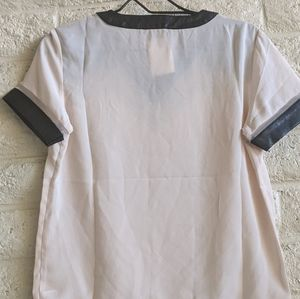 Tops - Nordstrom Tov | NWT altered mesh leather top med